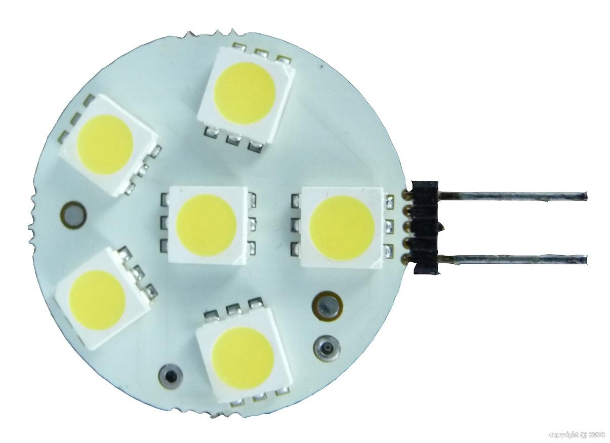 Pack de 2 ampoules à led 10W G4 6 LEDS SMD Horizontale BLANC CHAUD MANTAGUA MANTAGUA